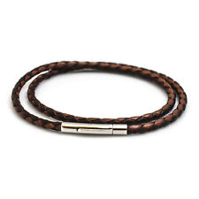 Double Fox Plait Leather Bracelet