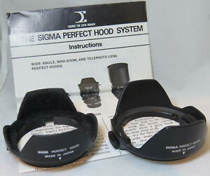 2 x Sigma Perfect Hood Lens Hoods With Instruction Book