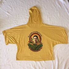 Frida Kahlo By Life Clothing Yellow Hooded Top Sz M