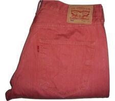Mens LEVI'S 501 Salmon Red Lightweight Denim Jeans W36 L32