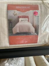 Yarn-Dyed Textured Blush Pink Gauze Duvet Cover Set Twin / Twin Xl Opalhouse