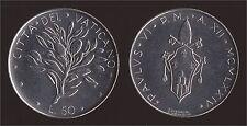 VATICANO 50 LIRE 1974 - PAOLO VI - FDC/UNC FIOR DI CONIO