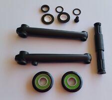 3 pcs Crank Set  made of strong 'CHROMOLY' 175mm USA/BB 8t Black Solid Crankset