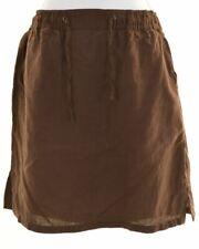 MAX MARA Womens A-Line Skirt UK 6 W22 L16 Brown Linen  AU10