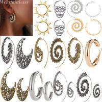 1 Paar Frauen Spirale Tribal Runde Ohrring Hoop Creolen Ohrringe Ohrschmuck Mode