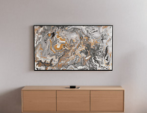 Marble, Gold, White, Black, Silver, Grey, Wall Art, Acrylic, Abstract Painting