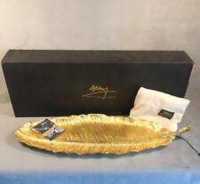 PV04090 NIB Michael Aram #175655 Gold BANANA LEAF Platter
