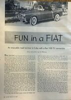 1957 Road Test Fiat 1100 TV Convertible illustrated