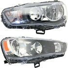 Headlight Set For 2010-2013 Mitsubishi Outlander Left and Right CAPA 2Pc
