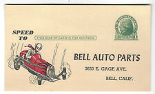 Bell Auto Parts Racing Equipment Order Blank/Postcard