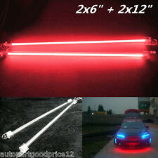 "4Pcs Car Red Undercar Underbody Neon Kit Lights CCFL Cold Cathode Tube 6"" + 12"""
