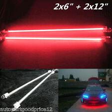 "4Pcs Car Red Undercar Underbody Neon Kit Lights CCFL Cold Cathode Tube 6"" + 12"""