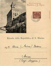 SAN MARINO-2c(26) su cartolina x Lago Maggiore 12.6.1901