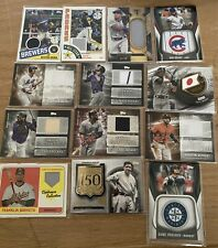 2019 Topps Triple Threads And Game Used Relic Lot From Topps Series 24 Card Lot