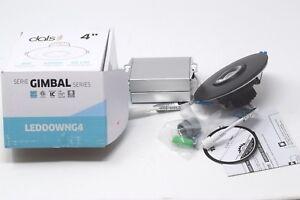 "DALS Lighting LEDDOWNG4-BK 4"" Round LED Gimbal Recessed Light 4"", Black"