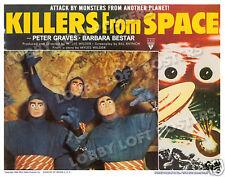 KILLERS FROM SPACE LOBBY SCENE CARD # 1 POSTER 1954 PETER GRAVES BARBARA BESTAR