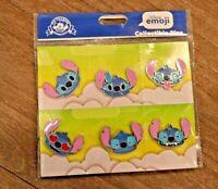 DISNEY Emoji Blitz STITCH 6 Pin Collectible Set FREE SHIPPING New LILO
