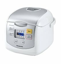PANASONIC 4-Cup uncooked Microcomputer Controlled Rice Cooker SR-ZC075W Silver