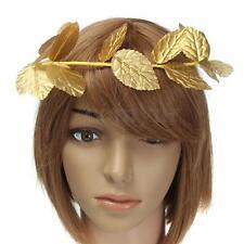 Roman Greek Goddess Gold Leaf Laurel Wreath Headpiece Toga Fancy Dress Costume