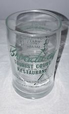 BROADWAY TOURIST COURT AND RESTAURANT JOHNSON CITY TENNESSEE DRINKING GLASS
