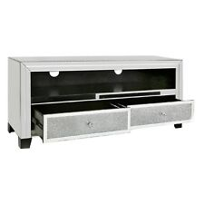 Tuscany Mirrored TV Stand Entertainment Unit with Swarovski Crystals