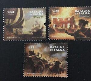 Portugal 2021 - 440 Years Salga Battle, Azores set MNH