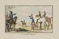 "Carreras de caballos después de Vernet, ""les jockeys montes"", punktiermanier, 19. jhd."