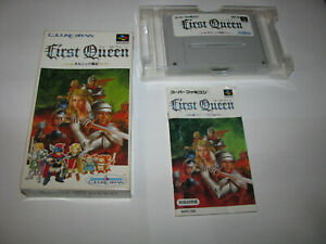 First Queen Ornic Senki Super Famicom SFC Japan Complete in Box US Seller