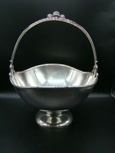 598 Grams 800 Silver Beautiful Wilkens & Söhne Decorative Bowl with Handle