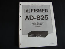 Original Service Manual Fisher AD-825