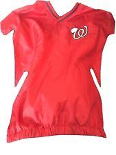 MLB Majestic Washington Nationals On Field Windbreaker Pullover Large Jacket