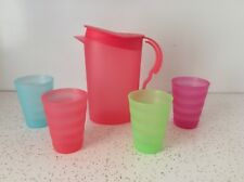 NEW TUPPERWARE KIDS IMPRESSIONS PLAY SERVING SET; PITCHER, CUPS