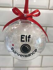 HANDMADE SANTA CAM / ELF SURVEILLANCE BAUBLES CHRISTMAS