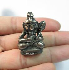 """The Vintage""""Phra AupaKut Create Khmer Arts""""Samrit-Silver Amulet for Good Fortune"""