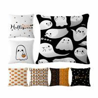 Sofa Home Car Decor Throw Pillow Case Cushion Cover Halloween Cotton Linen 18*18