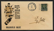 Ty Cobb Beer Ad Collector Envelope Original Period 1909 Stamp OP1117