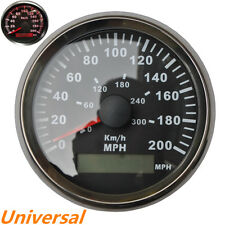 85mm GPS MPH Kmh Analogue Speedometer Digital Odo Gauge Red LED Black Bezel Auto