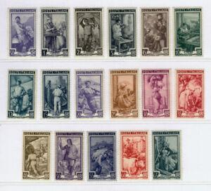 REPUBBLICA ITALIANA 1950 Italia al lavoro - 17 valori - 634/650 - MNH**