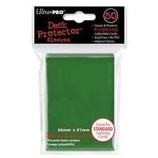 50 Ultra Pro Solid GREEN Deck Protector CCG MTG Pokemon Gaming Card Sleeves