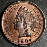 1904 INDIAN HEAD CENT - BU UNC - With CARTWHEELING MINT LUSTER!