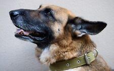 Heavy Duty Military Tarpaulin Canvas Training Dog Collar Adjustable Metal Buckle