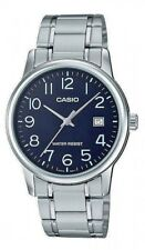 Casio MTP-V002D-1B Men's Stainless Steel Date BLACK Dial Watch EASY-READ