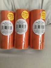 """3 Rolls of Orange Tulle 6"""" x 25 yards (total 75 yards) New Sealed"""