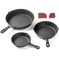 WR_ Cast Iron Skillet Non-stick Frying Pan Cooking Pot Restaurant Chef Cookware