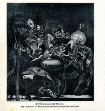 Die Versuchung des hl. Antonius-- nach M.Grünewald -- aus 1908 --