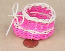 Single Large Coloured Shoe Shaped Basket Dolls House Garden Flower Accessory ZW