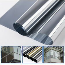 Window Foil Glass Film One Way Mirror Silver Insulation Sticker Solar Reflective