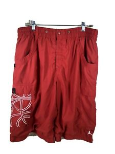 Nike Air Jordan Jumpman Logo Mens sz LGG Red Athletic shorts