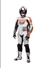Tuta in pelle Moto Stage6 MKII taglia 48 bianca Scooter Motard