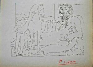 Pablo Picasso Repos de Sculpteur & junger Reiter handsigniert aus Suite Vollard